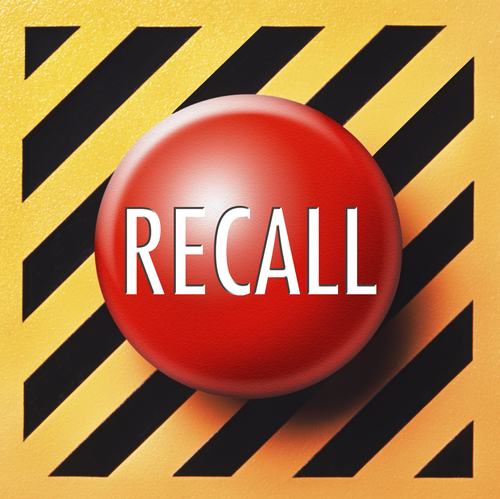 red recall button graphic