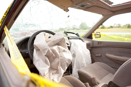 both front airbags deployed after a Boulder auto accident