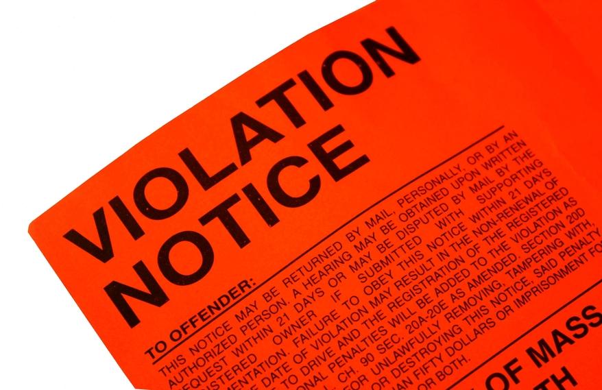 red violation notice
