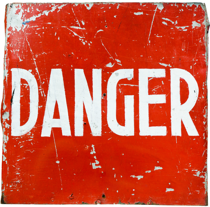 red danger sign