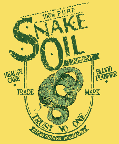 Old Snake Oil sign